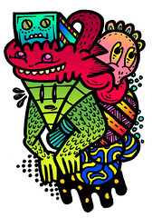 anglepounce (Sam-Cox) Tags: street uk england white abstract black colour detail art strange monster illustration contrast digital pen ink paper bristol graffiti design sketch interesting graphics artist pattern different sam angle graphic mechanical designer drawing unique object space character cluster young angles curls twist sketchbook dotted doodle curly independent edge impact cox marker imagine theme designs imagination colourful draw straight dots sketches heavy creature samuel mechanic depth imaginative individual detailed illustrate intricate stippling fineliner