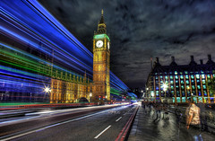 Westminster Bridge (Anatoleya) Tags: bridge light 3 bus london buses westminster night canon prime evening long exposure traffic mark f14 iii trails parliament bigben clocktower le 5d 24mm hdr f14l 5d3 anatoleya