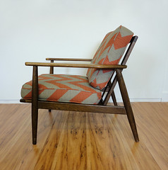 Mid Century Danish Walnut Lounge Chair (Circa Furniture) Tags: vintage furniture retro danish etsy armchair chevron midcenturymodern mcm eamesera