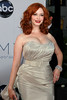 Christina Hendricks 64th Annual Primetime Emmy Awards, held at Nokia Theatre L.A. Live - Arrivals Los Angeles, California