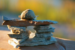 Inukshuk (Cindy's Here) Tags: macro rock canon dad gift inukshuk heclaisland scavchal