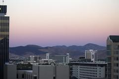 Dusk falls in Reno (quinn.anya) Tags: reno dusk sunset pink mountains