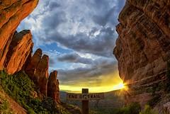 Cathedral Rock (Coasterluver) Tags: kirby andrew coasterluver canon nik hike fisheye cathedralrock sedona arizona hdr sunset