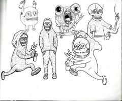 PERSONAJES (Asem-Uno.) Tags: flash tattoo crneo monster skull skate illustration calavera esqueleto skeleton haill hell drawing