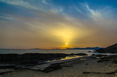 DUSK (Rober1000x) Tags: summer verano 2016 playa cala delta blava illes balears islas baleares rocks stones sea dusk clouds sunset