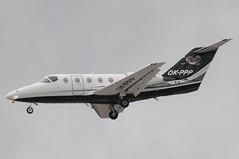 OK-PPP (LIAM J McMANUS - Manchester Airport Photostream) Tags: okppp bizz timeair tie raytheon beechjet 400a beechjet400 be40 bj40 be4 manchester man egcc