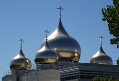 Domes on the new Russian Orthodox Spiritual and Cultural Center in Paris (Monceau) Tags: domes gold crosses russianorthodoxspiritualandculturalcenter paris