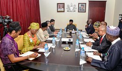 Vice President Prof. Yemi Osinbajo SAN in a meeting with India High Commissioner and other delegates during a courtesy visit