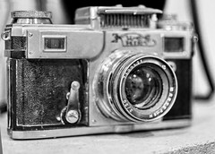 Kiev - Rusian/Soviet Camera (ioannouantreas1) Tags: black white photoshoot camera photography art film photooftheday 35mm electronics lens depth field monochrome