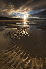 Golden Sands :) (Tracey Whitefoot) Tags: 2016 tracey whitefoot bamburgh castle beach northumberland north east coast summer sunset dusk sand patterns gold golden