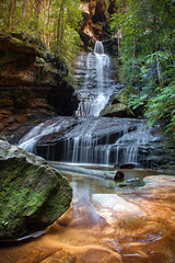 Empress Falls || VALLEY OF THE WATERS || BLUE MOUNTAINS (rhyspope) Tags: australia aussie nsw new south wales canon 5d mkii empress falls wentworth blue mountains waterfall creek stream rhys pope rhyspope forest woods nature