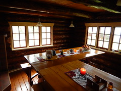 Warm and cozy dining at the Iniakuk Lake Lodge