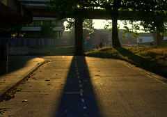 Early morning Sun in Preston (Tony Worrall) Tags: england northern uk update place location north visit area county attraction open stream tour country welovethenorth northwest unitedkingdom morning sun sunshine rays lit light lines pillar column path busstation golden early
