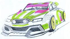drawing car (ivanutrera) Tags: draw dibujo dibujoalapicero drawing drawingcar auto coche automóvil boligrafo sketch sketching dibujoaboligrafo