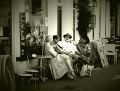 Cafe Voltaire . (Franc Le Blanc .) Tags: panasonic lumix terrasje voltaire shertogenbosch people sit sitting seated