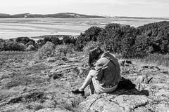 Another Japanese tourist (NSJW photos) Tags: cramondisland edinburgh scotland beach coastline candidstranger candid stranger japanese lady tourist mobilephone cellphone technology addicted addiction nsjwphotos