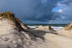 OBX Rainbow (pooroldtim) Tags: 240700mmf28 nikond810 nikon obx outerbanks rainbow landscape seascape color sanddunes ocean clouds