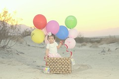 Desert Princess (fomz) Tags: portrait sunset birthday flyaway desert princess coldairballon flash ocf nikon75150mmf35 babygirl 1yearold 1stbirthday canoneosm canon summer warm strobist