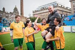 Homeless World Cup 2016, George Square, Glasgow, Scotland - 13 July 2016 (Homeless World Cup Official) Tags: hwc2016 homelessworldcup aballcanchangetheworld thisgameisreal streetsoccer glasgow soccer australia referee smiles scotland