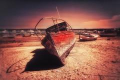 Boats.... (hobbit68) Tags: beach wolken clouds himmel sommer hafen ozean andalucia boats outdoor sonne old strand canon boote port wasser sonnenschein alt ruine playa espana spanien urlaub ufer verfallen sky meer