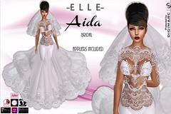 -E L L E- Aida Bridal (AdelleBelle) Tags: elle mesh body applier omega tmp belleza slink maitreya formal elegant evening dress long