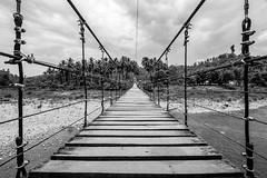 Maglahus Bridge (Hendraxu) Tags: bw black white monochrome bridge travel travelling asia mindanao cateel south philippines