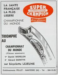 Jantes Super Champion Compétition duralinox (Cyclopathe) Tags: jantes rims superchampion compétition duralinox dural lejeune morelon quintyn pellet bicycle vélo rebour