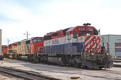 The End (GLC 392) Tags: bc bcol british columbia railroad railway train canadian national cn emd sd402 sd50f homewood il illinois markham east hazel crest rail 750 766 5453 ic central 6100 cowl barn