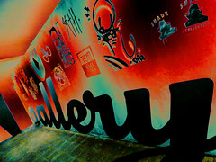 The Gallery (Steve Taylor (Photography)) Tags: seth shady collective telmo miel gallery dtr sofles art abstract graffiti tag streetart wall newzealand nz southisland canterbury christchurch perspective ymca negative modernist modernism