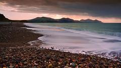 'Evening stroll, Dinas Dinlle' (Meurig2011) Tags: sea water dinasdinlee beach llandwrog gwynedd northwales seascape lleynpeninsula