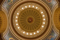 Wisconsin State Capital Building Rotunda (vtcollins) Tags: capital building wisconsin state rotunda dome colorful symmetrical madison