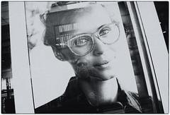 self reflected (Dale Michelsohn) Tags: city reflection black white monotone dalemichelsohn self window shop street