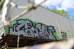 random graffiti (Thomas_Chrome) Tags: graffiti streetart street art spray can moving target object illegal vandalism suomi finland europe nordic truck lorry chrome