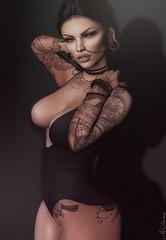 New Poses - Inworld shop coming soon! (miiane SL) Tags: isuka tattoos second life sl secondlife piercings woman photoshoot mila poses edit gimp