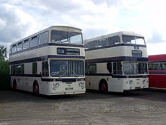 120709-Sheffield Duo. (day 192) Tags: bus buses daimler leyland fleetline sandtoft vintagebus busrally atlantean sheffieldcorporation classicbus leylandatlantean daimlerfleetline preservedbus sandtoftgathering trolleybusmuseum