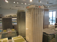Giant model of Canary Wharf (Matt From London) Tags: skyscraper model canarywharf hsbc onecanadasquare isleofdogs