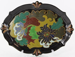 2038. Gouda Art Deco Pottery Serving Tray