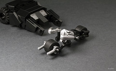 Lego Mini Batpod (_Tiler) Tags: car bike lego mini batman vehicle dccomics batmobile batmanbegins moc tumbler thedarkknight batpod miniscale thedarkknightrises tdkr