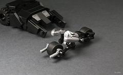 Lego Mini Batpod (_Tiler) Tags: car bike lego mini batman vehicle dccomics batmobile batmanbegins moc tumbler thedarkknight batpod miniscale thedarkknightrises tdkr