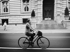 Enjoying The Ride (Joel Levin Photography) Tags: street portrait urban blackandwhite bw usa philadelphia bike bicycle candid streetphotography philly allrightsreserved iphone mobilephotography iphone4 thedefiningtouch thedefiningtouchgroup iphoneography deftouch editedanduploadedoniphone joellevin definingtouchgroup
