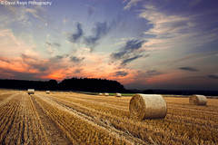 I Wanted Stars (David Relph) Tags: sunset field clouds canon wheat hay bales haybale davidrelph