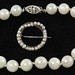 4010. Cultured Pearl Bracelet and Circle Pin