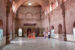 Meeting Hall at the Lallgarh Palace _8049 (hkoons) Tags: india house village desert fort citadel royal palace centralasia fortress royalty bikaner thar rajasthan junagarh thardesert junagarhfort rajputs durbarhall lallgarhpalace princebika sadulniwas srisadulmuseum jangaldesh