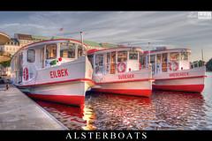 Alsterboats Hamburg 15.08.2012 (Oliver Totzke) Tags: sunrise river germany boats deutschland boot boat hamburg boote alster schiff schiffe hansestadt binnenalster bracketing polfilter photomatix belichtungsreihe