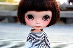 Sol (Aya_27) Tags: sol beach girl doll sad blythe custom dollie świnoujście vainilladolly