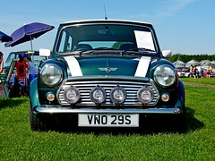 Mini Cooper (DaveJC90) Tags: show old city blue light summer sky cloud sun sunlight hot colour detail green classic cars grass car america vintage japanese suffolk shiny europe colours shine village bright sticky magic sunny sharp event chrome vehicle nights british motor 1001nights 1001 sharpness magiccity stonham stonhambarns 1001nightsmagiccity mygearandme mygearandmepremium mygearandmebronze