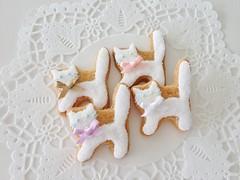 Cat cookies (Cbonbon.cookie) Tags: bear rabbit bird animal cat cookie teddy