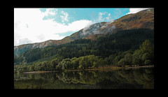 Mountain reflections (feefers3) Tags: strathyre mountains clouds loch lochlubnaig reflection mirrorimage hills trees landscape countryside scotland scottishlandscape lake water
