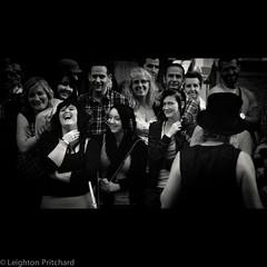 Ask The Audience (widdowquinn) Tags: uk blackandwhite bw monochrome scotland edinburgh grain arts culture streetphotography places fringe royalmile streetperformer highstreet fringefestival edinburghfringefestival edinburghfringe fringe2012 edinburghfringe2012