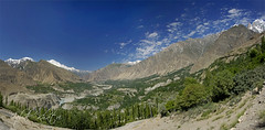 Panorama Hunza valley (Iqbal.Khatri) Tags: travel pakistan sky snow nature colors rock river landscape highway village fort song peak spire valley destination karakoram kkh rakaposhi hunza karimabad nagar touristspot sond gilgit ladyfinger iqbal baltit altit aliabad baltistan khatri traveldestination muztagh westernmost northpakistan travelandplaces iqbalkhatri hunzanagar valleyofbeauty northpakistanhunza